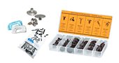 Glass Clips, Fasteners and Guides
